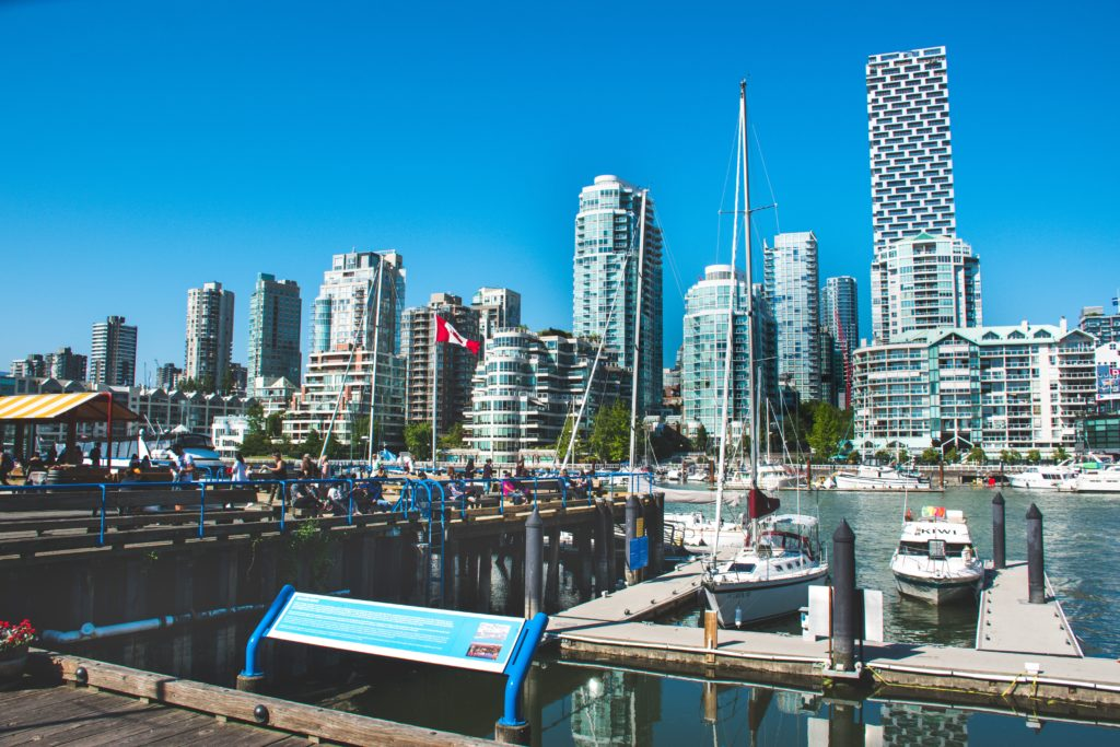 Summer in Vancouver with Granville Island and city in background